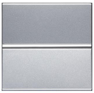 ABB Zenit Механизм Выключателя одноклавишный проходной (2-х модульный) серебро