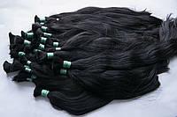 Волосы в срезе темные 40см - 100гр