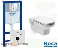 Roca Grohe Rapid SL + унитаз Roca Dama Senso с сиденьем дюропласт soft-close
