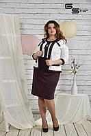 Костюм Влада платье + пиджак (размеры 42-74)
