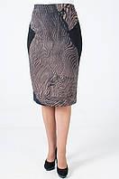 Женская юбка Ульяна коричневого цвета