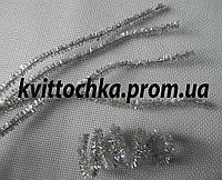 Синельная палочка цвет - серебро, блестящий, цена за 10 шт, фото 1