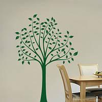 Интерьерная виниловая наклейка на обои Стройный тополь (декоративные наклейки деревья на стены, самоклеющаяся)