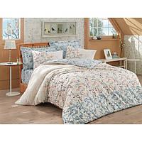 Хлопковый комплект постельного белья ЕВРО размера Cotton Box TANYA GRI CB03