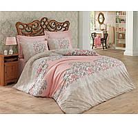 Хлопковый комплект постельного белья ЕВРО размера Cotton Box MEGAN BEJ CB03