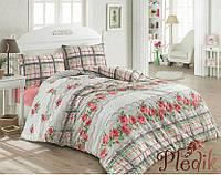 Теплое постельное белье Фланель 200х220 Cotton box Floral Pembe