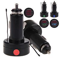 DF-01-TV 2 В 1 цифровой автомобильный вольтметр + термометр в прикуриватель