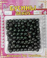 """Бусина акриловая """"Шар"""" темно-зеленый (50г/уп) 7,5-8мм"""