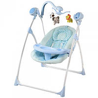 Детские качели - стульчик 2 в 1 Электро с подвесками