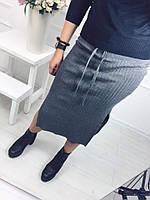 Женская стильная вязаная юбка (4 цвета)