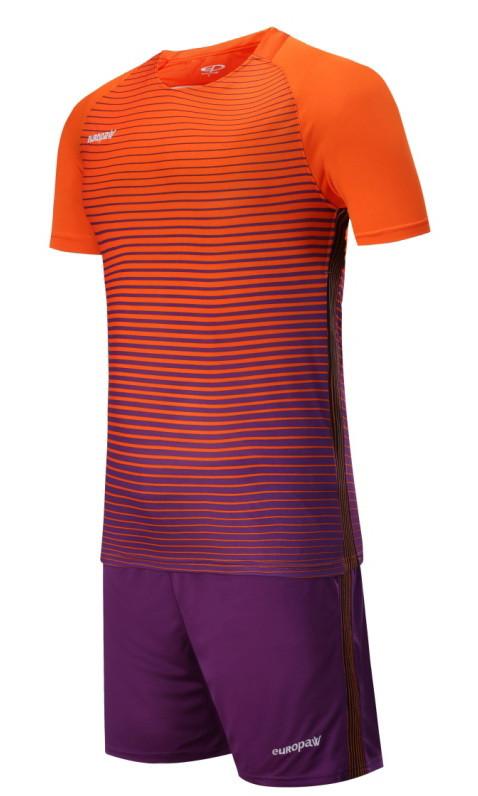 Футбольная форма Europaw 013 оранжево-фиолетовая [XS, XL]