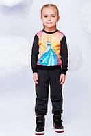 Спортивный костюм для девочек  с принтом Золушка