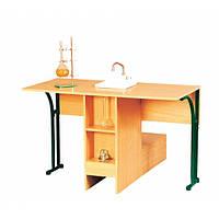 Стол лабораторный ученический для кабинета химии с мойкой
