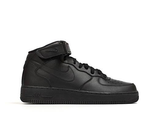 Мужские кроссовки  Nike Air Force 1 Mid 07 Black