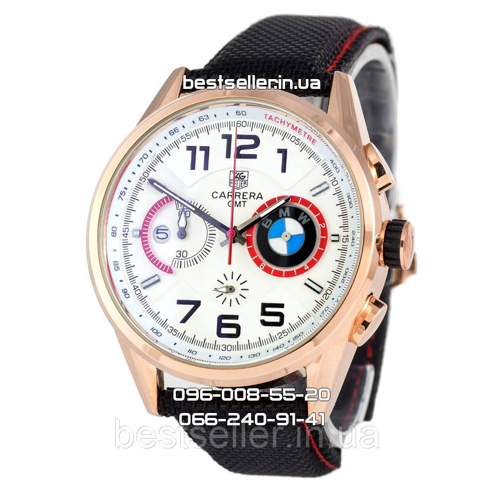2114e27d Часы Tag Heuer BMW Power Quartz white/gold/black. Класс: AAA ...