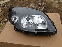 Фара Renault Sandero 2008-2013 (правая, черная, 26104793R)
