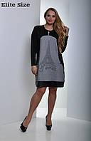 Женское платье с карманами большого размера к-t6151134