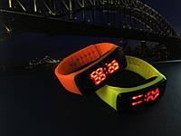"""Стильные спортивные силиконовые часы браслет""""LED Watch"""" унисекс"""
