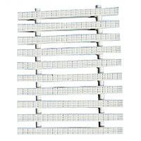 Переливная решетка Classic с двойным соединением 300x25 мм (белая)