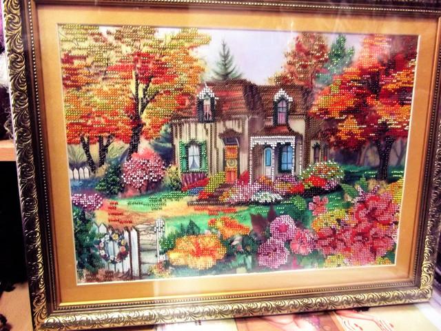 вышивка бисером осень