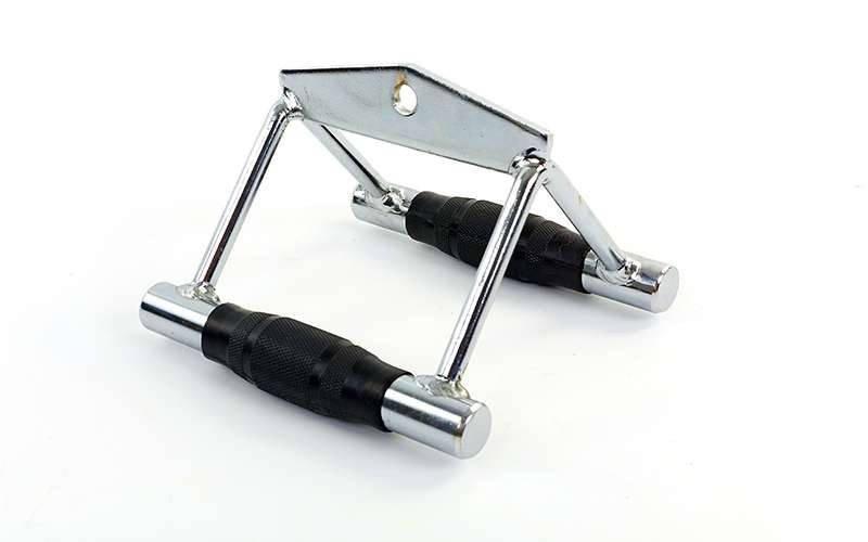 Рукоятка двойная для тяги узким хватом с PU накладкой. Распродажа. Оптом и в розницу