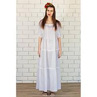 Купить платье в пол  белое с косынкой купить