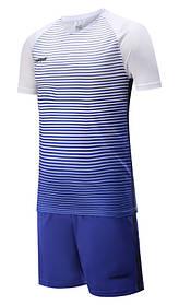 Футбольная форма Europaw 013 бело-синяя [XS]