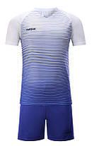 Футбольная форма Europaw 013 бело-синяя [XS, XL], фото 2