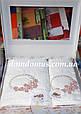 """Подарочный набор полотенец 3D """"Nakisli"""" бамбук Puppila, белое 9536, фото 3"""