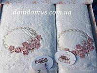 """Подарочный набор полотенец 3D """"Цветочки"""" бамбук Puppila, белое"""