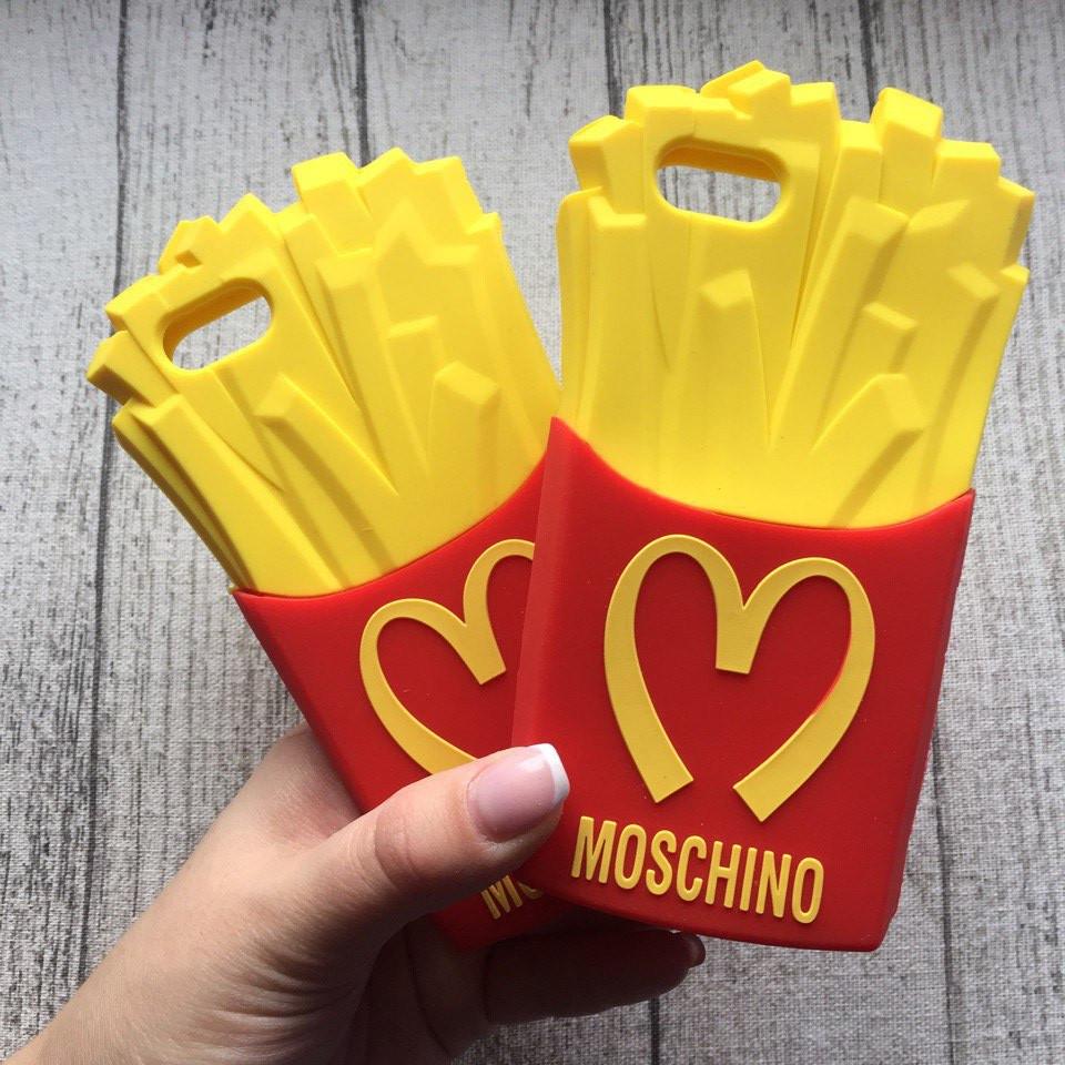 Силиконовый чехол картошка Moschino для  iPhone 5/5s/se