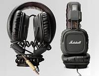 Фирменные аудио-наушники Marshall Major, с кожаной обшивкой