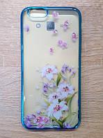 Чехол силиконовый для iPhone 6/6s, прозрачный, цветы
