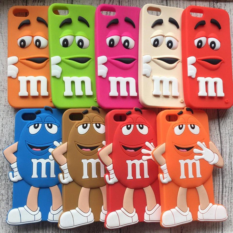 Силиконовый чехол M&M's для iPhone 5/5s/se