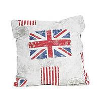 Подушка декоративная  Flag с кружевом 40х40 см