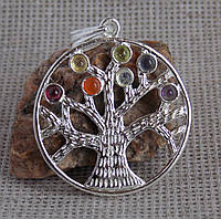 """Кулон """"Дерево жизни"""" с натуральными камнями. Чакральный гармонизатор"""