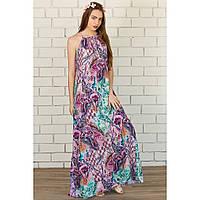 Платье длинное пэчворк цветной купить