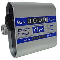 TECH FLOW 3C (4C) - Механический счетчик расхода дизельного топлива, 20-120 л/мин