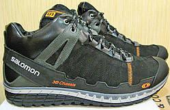 Зимние мужские кроссовки в стиле Salomon кожаная обувь Саломон стиль