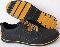 Стильные весенние мужские кожаные туфли CAT ( Caterpillаr)