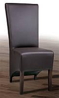 Стул Канзас-2  буковый с мягкой спинкой и сиденьем, ножки темный орех, кожзам CO - 3/RK (chocolate)