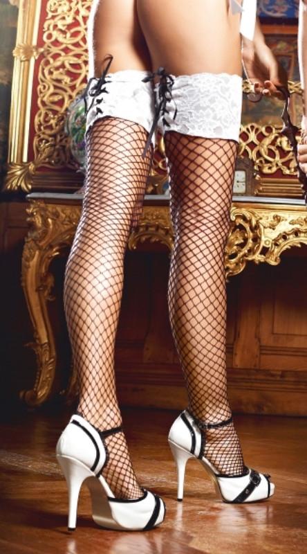 Женские чулки черно белые фото