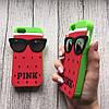 Силиконовый чехол Pink арбуз для iphone 5/5s/SE, фото 2