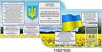 """Стенд """"Государственные символы Украины"""", поле"""