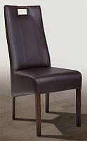 Стул Канзас  буковый с мягкой спинкой и сиденьем, ножки темный орех, кожзам CO - 3/RK (chocolate)