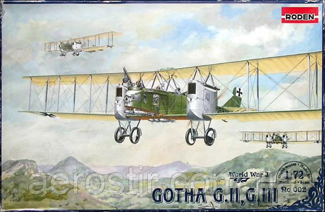 Gotha G II, G III 1/72 RODEN 002