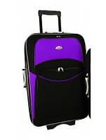 Чемодан дорожный 775 (большой) черно-фиолетовый