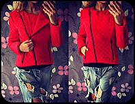 Яркая женская куртка-косуха