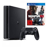 Sony PlayStation 4 1TB Slim + игра Mafia III