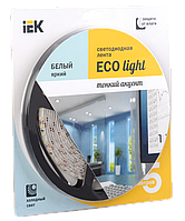 Лента светодиодная LED 5м блистер LSR-3528W120-9.6-IP65-12V IEK-eco